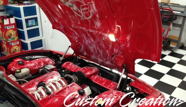 Custom Creations Airbrushed Corvette Hood