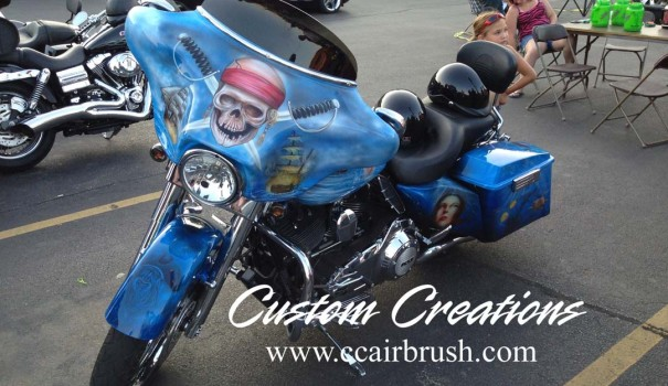 Custom Creations Pirate Theme Motorcycle Airbrush